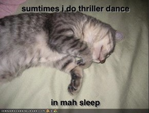 sumtimes i do thriller dance - in mah sleep