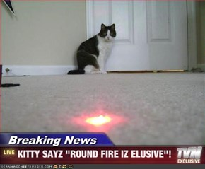 "Breaking News - KITTY SAYZ ""ROUND FIRE IZ ELUSIVE""!"