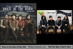 Panic at the Disco Pretty Odd Totally Looks Like Fall Out Boy I don't Care