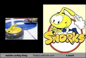 marble curling thing Totally Looks Like a snork