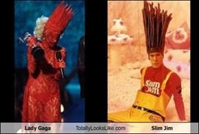 Lady Gaga Totally Looks Like Slim Jim