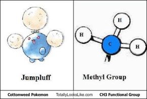 Cottonweed Pokemon Totally Looks Like CH3 Functional Group