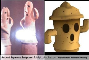 Ancient Japanese Sculpture Totally Looks Like Gyroid from Animal Crossing