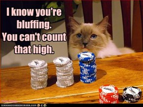 I know you're bluffing. You can't count that high.