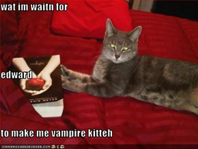 wat im waitn for edward to make me vampire kitteh