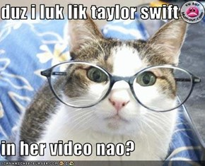 duz i luk lik taylor swift  in her video nao?