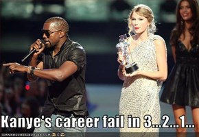 Kanye's career fail in 3...2...1...