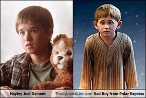 Hayley Joel Osment Totally Looks Like Sad Boy from Polar Express