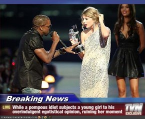 Breaking News - While a pompous idiot subjects a young girl to his overindulgent egotistical opinion, ruining her moment