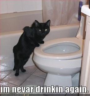 im nevar drinkin again.