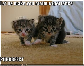 Let us make you claim experience  PURRRFECT