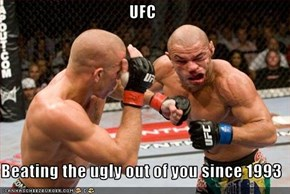 UFC   Beating the ugly out of you since 1993