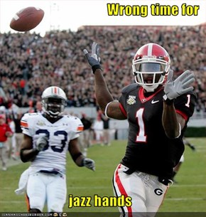 Wrong time for  jazz hands