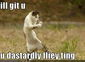 ill git u  u dastardly fliey ting