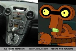 Kia Rondo dashboard Totally Looks Like Roberto from Futurama