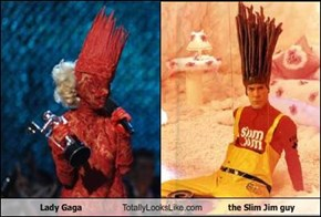 Lady Gaga Totally Looks Like the Slim Jim guy