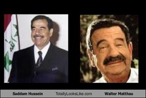 Saddam Hussein Totally Looks Like Walter Matthau