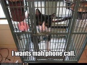I wants mah phone call.