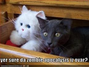 yer sure da zombie apocalysis iz ovar?