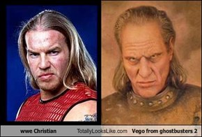 wwe Christian Totally Looks Like Vego from ghostbusters 2