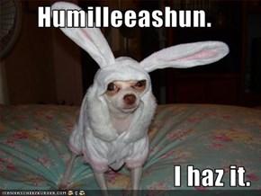 Humilleeashun.  I haz it.
