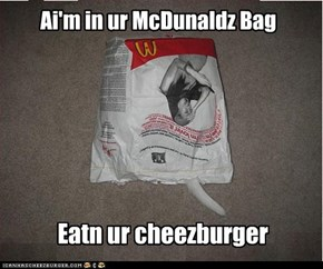 Ai'm in ur McDunaldz Bag