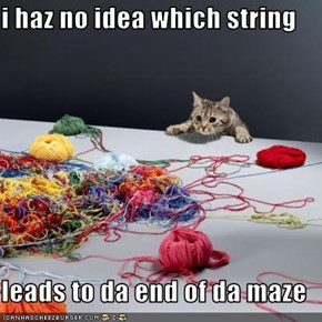 i haz no idea which string  leads to da end of da maze