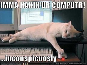 IMMA HAKIN UR COMPUTR!  ...inconspicuosly