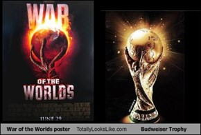 War of the Worlds poster Totally Looks Like Budweiser Trophy