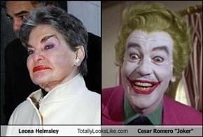 "Leona Helmsley Totally Looks Like Cesar Romero ""Joker"""