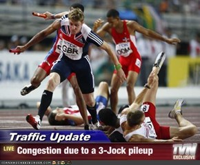 Traffic Update - Congestion due to a 3-Jock pileup