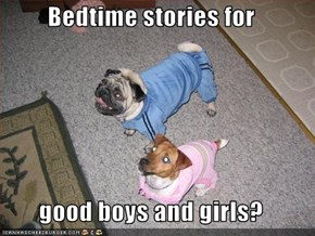 Bedtime stories for   good boys and girls?