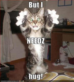 But I NEEDZ hug!