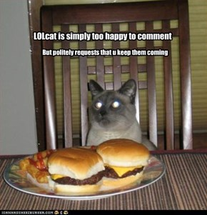 LOLcat is simply too happy to comment