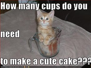 How many cups do you  need to make a cute cake???