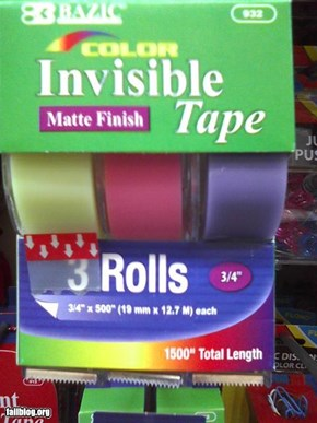 Invisible Tape Fail