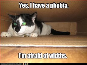 Yes, I have a phobia.