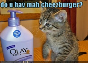 do u hav mah cheezburger?