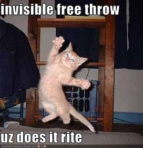 invisible free throw  uz does it rite