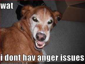 wat  i dont hav anger issues
