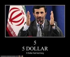 5  5 DOLLAR