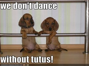 we don't dance  without tutus!