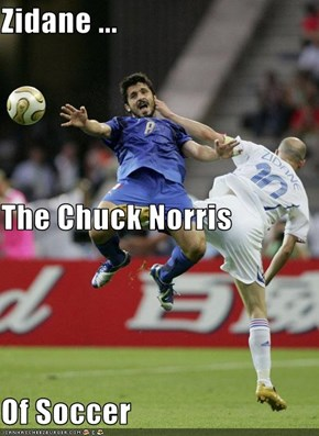Zidane ... The Chuck Norris Of Soccer