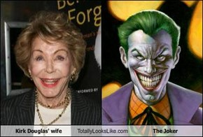 Kirk Douglas' wife Totally Looks Like The Joker