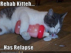 Rehab Kitteh...  ...Has Relapse
