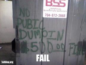 Dumpster Fail