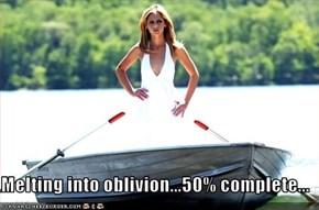 Melting into oblivion...50% complete...