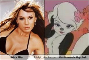 Krista Allen Totally Looks Like Miss Mam'selle Hepzibah