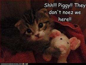 Shh!!! Piggy!! They don't noez we here!!