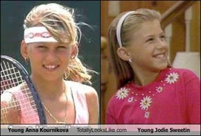 Young Anna Kournikova Totally Looks Like Young Jodie Sweetin